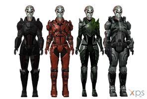 Female Batarian Armours for XPS (with custom head) by Just-Jasper