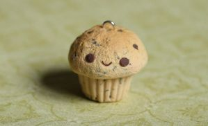 Chocolate Chip Clay Cupcake Charm (Tutorial) by RawrRufus