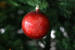red christmas globe by alamic-marius