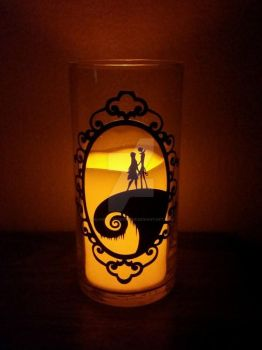 Jack and Sally Candle Holder by SilhouettesbyMarie