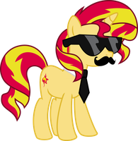 Got swag: Sunset Shimmer by Elsia-pony