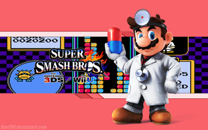 Dr. Mario Wallpaper - Super Smash Bros. Wii U/3DS by AlexTHF