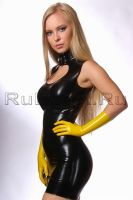 Yellow latex gloves by latex-rat