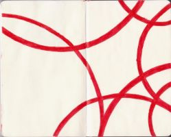 Moleskine Painting 3: Red Intersection by thenameisCarbon
