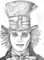 Mad Hatter and Alice by empsuli