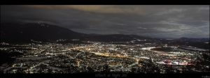 Villach at night by stefansergio