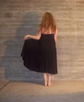 black dress-back by bloodymarie-stock
