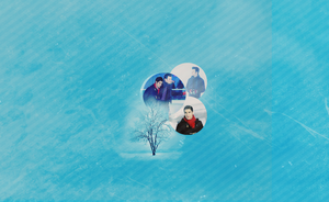 Klaine Winter Wallpaper by FlanFlame