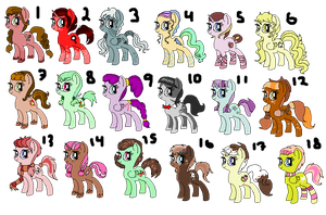 Adoptable ponies by InSoivetCeption