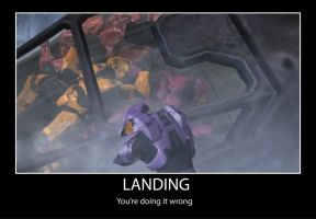 Red vs Blue Landing by luckyduck2