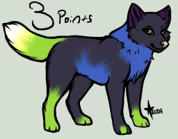 3points wolf adopt [CLOSED] by Girryy