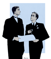 Jeeves and Wooster by pheldonachen
