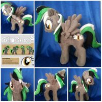 My Little Pony Plushie on her way to Australia by CINNAMON-STITCH