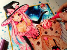 Sugar Cupcake Witch ^_^ by Naschi
