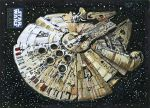 Star Wars Millennium Falcon Sketch card by SteveStanleyArt