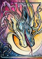 Eloren - dragon ACEO by donnaquinn