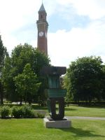 Tower and Sculpture, University of Birmingham, UK by SrTw