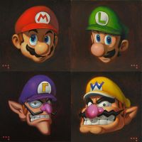 4 New Marios by iconicafineart