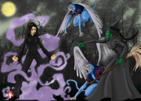 Dark Willow-VS-Wicked Witch by WiL-Woods