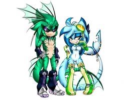 Green and blue by AccidentaI