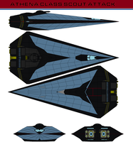 Athena Class Scout attack by bagera3005