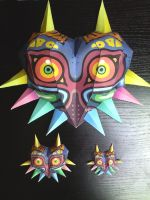 Majora's Masks Papercrafts by gardevoir7
