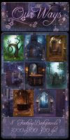 Our Ways backgrounds by moonchild-lj-stock