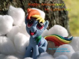 My Little Pony:1st Anniversary by dustysculptures