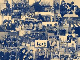 Beatles background by Chrystalcharcoal