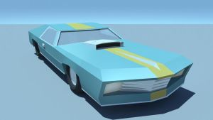 Low Poly Car (WIP) by GforGannon