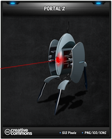 Portal 2 Turret Game Icon by 3xhumed