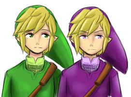 SkywardSword styled Green and Vio by Ask-VioLink