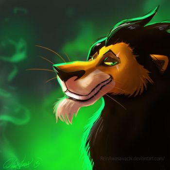 Scar: I never thought hyenas essential... by WolfSplicer