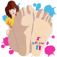 REQUEST - April O' Neil showing SOLES! by iDrawFeet