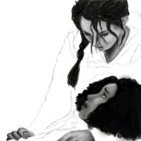 SPOILER - Rue and Katniss... WIP by AKindOfSushi
