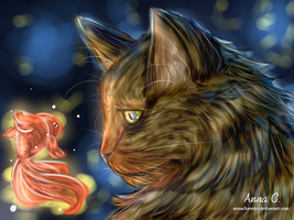 The cat and goldfish - Practice by AnnaChaveiro