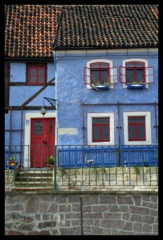 A blue house in Meissen by PaperClipp