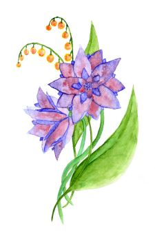 Watercolor Flowers by Christin-Cat-Bat
