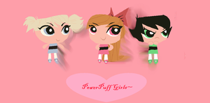 Powerpuff girls in  the 'reboot style' by Kittenzarecute123