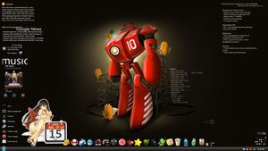 Windows 7 Screenshot Red Robot by blissBOT