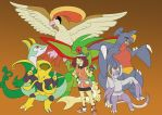 Toris pokemon Team by blazeshadow