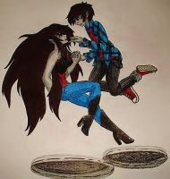 Marceline and Marshall Lee coupling fan art by XangelxofxdarknessX