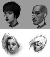 Head Studies by Robotpencil