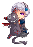 -- Chibi commission for StupidUsagiSan -- by Kurama-chan