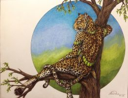 Leopard Tree by teiirka