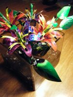 1st Recycled Lily Arrangement3 by Christine-Eige