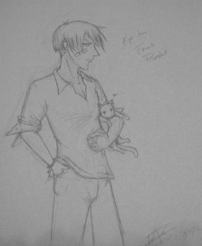 Sketch Kyo from Fruits Basket by phoenixquill2040