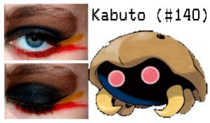 Pokemakeup 140 Kabuto by nazzara