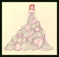 pink Gown by BethzAbonitz