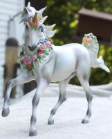 Breyer Unicorn Aurora Stock 4 by Lovely-DreamCatcher